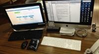 自分の事情から、机の上にiMacとWindowsマシンが二台あります。 おのおのにキーボードマウスがありますから邪魔でしょうがありません。 「Bluetooth キーボード Mac Windows 共用」で検索すると、共 […]