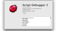 AppleScriptの動作エラーでGUIの構文をチェックするためにScript Debuggerを購入しました。 USドルで$199ドルでしたが背に腹は代えられません。自分はきれいな条件判断のコードを 書く事ができませ […]